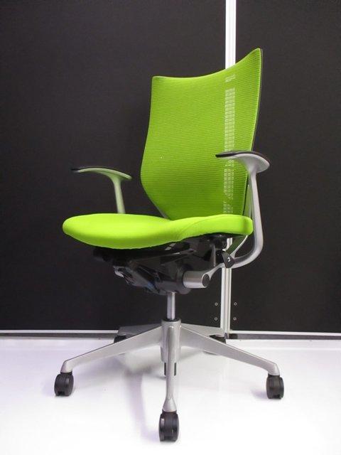 【状態良好限定2脚!!】明るいグリーンでオフィス空間も明るく変貌!