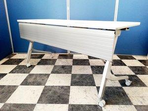 【10台揃う!】オカムラ製 スタックテーブル カルドーシリーズ 研修や会議が多くなる新年度前に!きれいなホワイト色!
