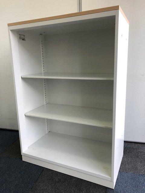 【見やすく綺麗なオフィスへ】天板付きオープン書庫