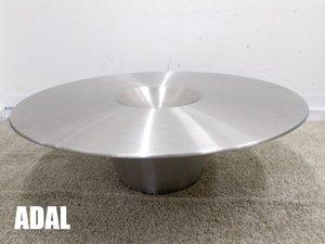 ADAL/アダル アリエン ラウンドセンターテーブル ステンレストップ シトーヤスヒロ 新品定価38万