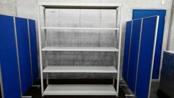 コクヨのW1800の中古ラックが大量(15台)入荷しました! 天地5段 耐荷重:段/150kg ボルトレスなので組立も簡単!  ※マテハン本舗の中古商品は、千葉県柏市に在庫がございます。