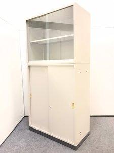 【レアな書庫セット】ガラス引き戸+スチール引戸 限定入荷しております!