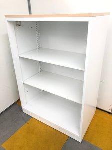 【使いやすい!腰高サイズのオープン書庫!】 可視性抜群! カタログの収納などに便利です!
