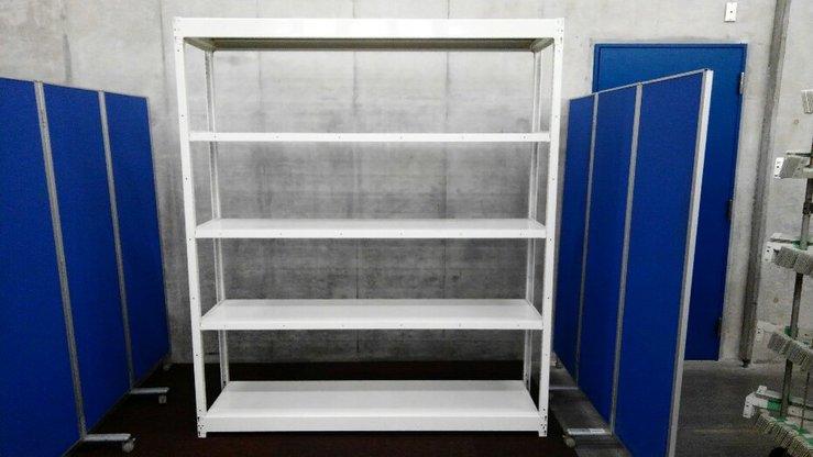 オカムラのW1830の中古ラックが2台入荷しました!! 天地5段 耐荷重:段/200kg ボルトレスなので組立も簡単!  ※マテハン本舗の中古商品は、千葉県柏市に在庫がございます