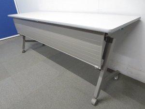 【1点限定おつとめ品!】■サイドスタックテーブル(W1800×D600mm)■【足元を隠せる幕板パネル付!】