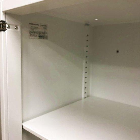 【在庫入替価格】高さがポイント 台にもなる高さのH975の両開き書庫 コクヨ エディア                         エディア                                      中古