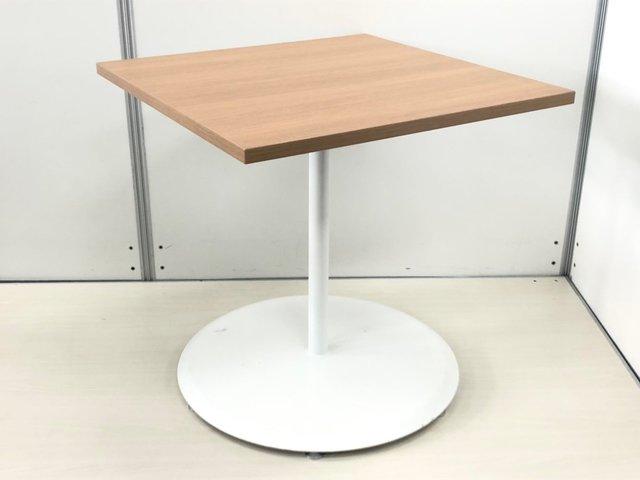 【良好品】【安定感抜群】 オカムラ/角テーブル/天然木調天板