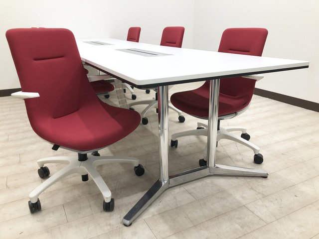 【6脚セット】めでたい気分になれるセット商品!紅白がオフィスを明るく演出!