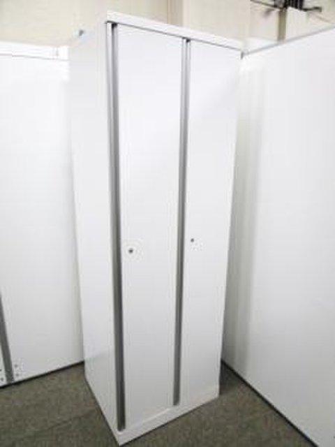 【鍵付き】美白ホワイトカラー◆オカムラ製2人用ロッカー
