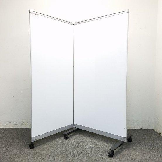 【訳アリ】パーテーション兼ホワイトボードの珍しい商品限定入荷!中古 ホワイトボードスクリーン ホワイトボードパーテーション