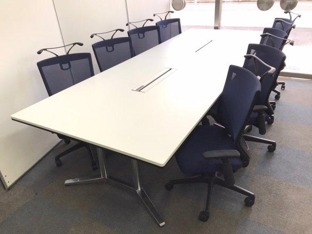 【オカムラ製のセット】8名用の会議セットが揃います!【セット割り】