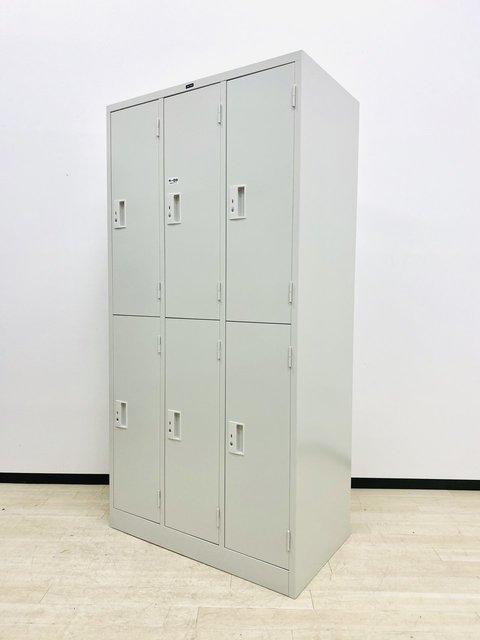 オフホワイトの6人用ロッカー!国内製で鍵の複製可能です!全国配送可能!