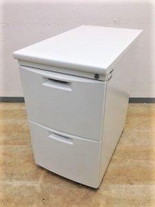 【デスク横収納を増やす】人気のホワイトカラーサイドデスク!A4サイズもたっぷり収納・作業効率もUP!!
