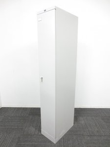省スペースに設置できるスリムタイプ!■ウチダ 1人用ロッカー ホワイト