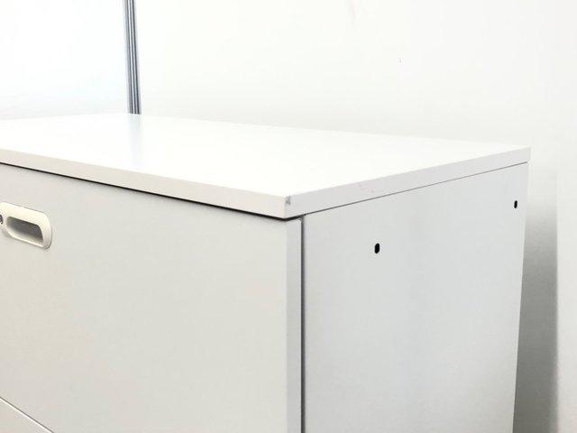 【限定1台】手触りの良い天板付き!カウンターとしても使用可能です!数の少ないホワイトカラー!【J3】【3】★                         LINX                                     中古