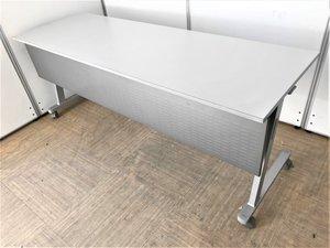 【セミナー用や会議用に最適】幕板付きスタックテーブル【3人座れる幅1800㎜】