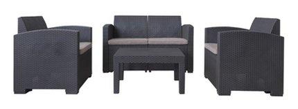 【新品】東谷 セット商品 ガーデンリビング 1Pソファ*2&2Pソファ&テーブル 4点セット
