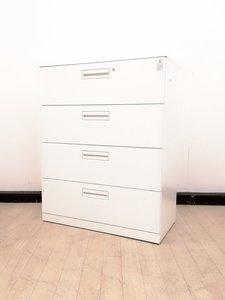 【残り1台!】収納力UP便利アイテム【注意】A4ファイル収納できません◆コクヨ製4段ラテラル書庫