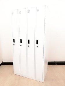 【安い!】ホワイトの4人用ロッカー!/シリンダー/定番ロッカー【扉ややハズレやすいです】