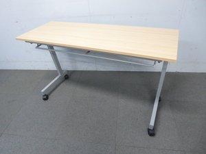 【コンパクトサイズ入荷!】■サイドスタックテーブル(W1200×D450mm)木目柄ナチュラル天板