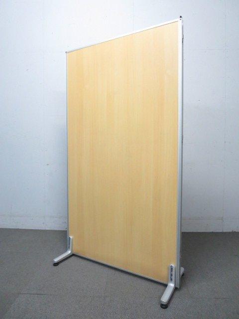 【オフィス空間に癒しのナチュラルカラー!】■木目パーティション 安定脚付 W900×H1600mm メラミンパネル                          衝立パネル                                     新品