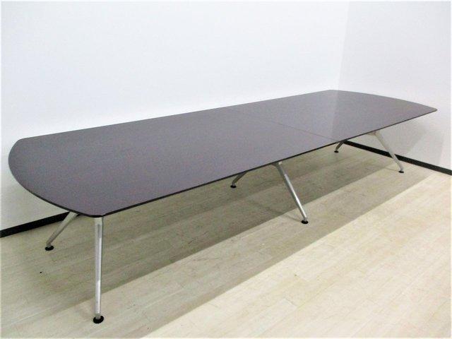 ■入替商品の為お安く!!イトーキ/DDシリーズ大型テーブル/W3600 高級感のあるブラウン天板/小傷あり                         DDD                                      中古