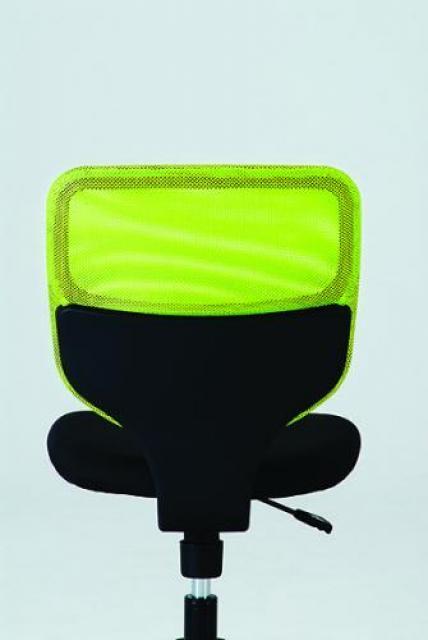 【流行のメッシュチェアも激安!】背面メッシュチェア ■イエローグリーン×ブラック■USM-114KM【OAチェア】                                     新品