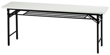 【折り畳みテーブルW1800/D450】天板がソフトエッジタイプです。