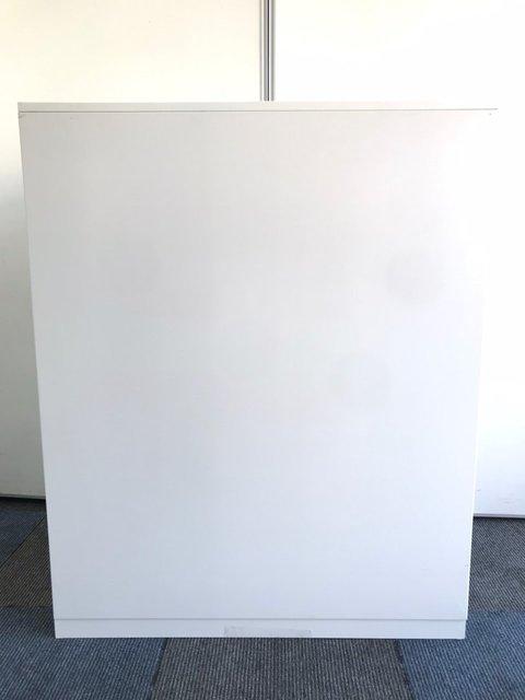 【天板付き書庫】人気のホワイト色でオフィスを明るく!【SPG】                         HSパーソナル                                      中古
