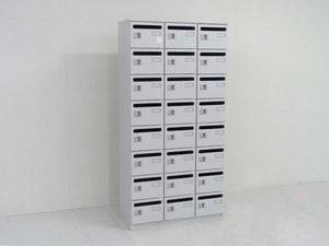 24人用ロッカー パーソナルロッカー メールロッカー 多人数用 おすすめ ロット ニューグレー色 入替や新規購入におすすめ レア シューズボックスとしても使用可能