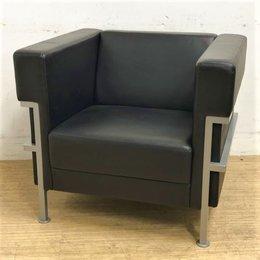 【2脚入荷】ブラック&シルバーのカラーリングがシックな応接室を演出 重厚感もありデザイン性も十分 ADAL