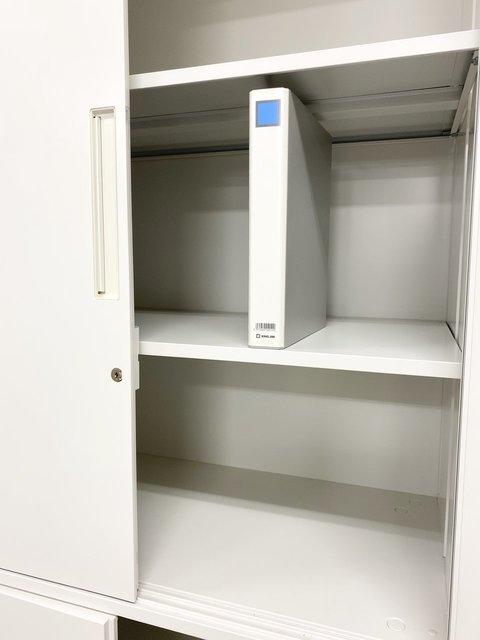 【鍵付】両開きと引き違いの書庫セット!省スペースで多くの書類を収納可能です! イナバ/TFシリーズ/ホワイト                         TF 書庫                                      中古