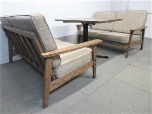 【アンティーク調】■カフェテーブル&ソファセット