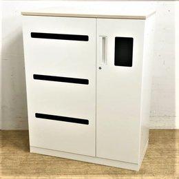 【1台入荷】【扉付きでオフィスの内観を保つ】ゴミ箱とリサイクルボックスが一体化 コクヨ エディア