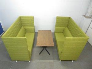 【くつろぎのカフェスタイル!】■パネル付きソファ&テーブルセット