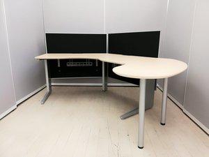 【役職者様向け!】ウルトラレア!サイドテーブル付きブーメランデスク◆オカムラ製プロユニット