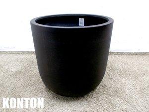 KONTON 鉢カバー ファイバーストーン モノ ブラック