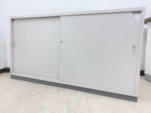 【旧サイズ書庫】横長引違いスチール扉!ハイカウンターとしても使用OK◆コクヨ製