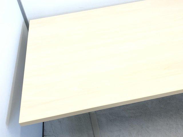 【1台限定!】6人掛けが可能!木目調のミーティングテーブル!来客スペースなどにおすすめ! ★                         その他シリーズ                                     中古