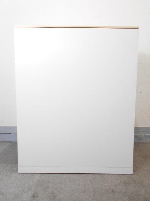 【高品質で使いやすい!】■オカムラ製 レクトラインシリーズ ■両開き書庫 ホワイト ナチュラル天板タイプ                         レクトライン                                      中古