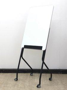 【便利仕様!】看板のような?ホワイトボード※キャスター付◆省スペースタイプ!