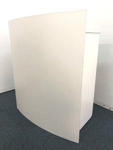 【2台入荷!!】ホワイトカラーでスタイリッシュな講演台!!キャスター付きで移動も楽々■おつとめ品