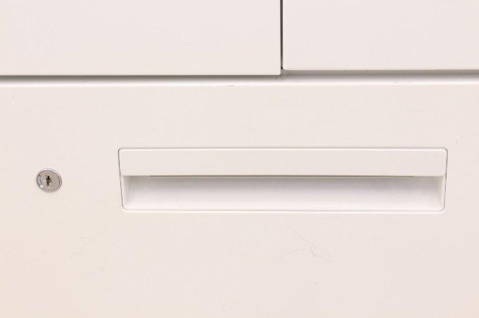 【書類をできる限り収納したい方に!】■ウチダ 両開き+4段ラテラル書庫セット ホワイト【H2320mm】おつとめ品                         HS                                     中古