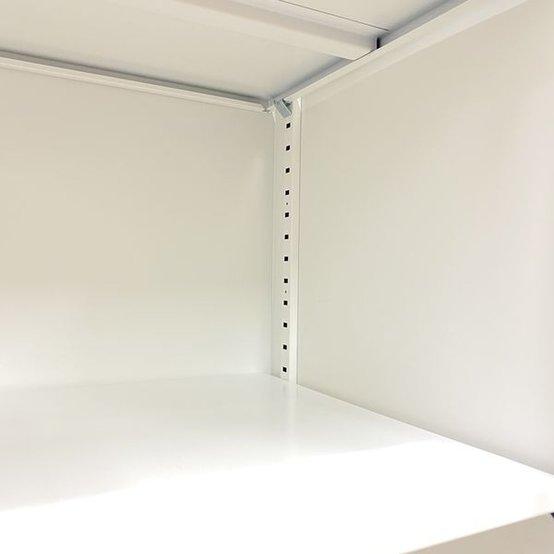 【限定1台】開放的で爽やかなオフィス空間に!!木目×ホワイトのローキャビネット                         HS                                     中古
