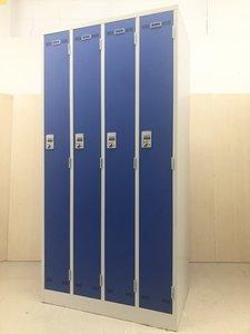 蓮田店史上、初入荷! 前面扉が青色の4人用ロッカー! 更衣室への導入がおすすめです! 生興/LKDシリーズ/ブルー