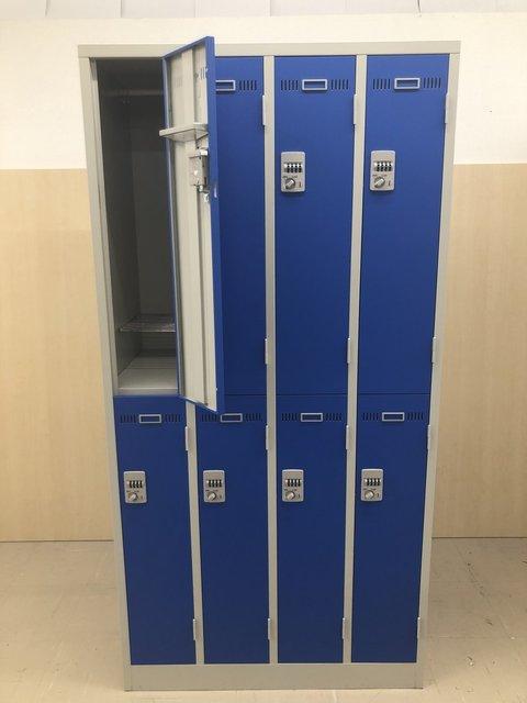 【男性用?】扉青色8人用ロッカー入荷!たくさんあります4台入荷◆生興/LKDシリーズ                         LKD                                      中古