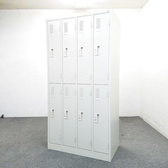 【美品】【激レア入荷】8人用2列2段シリンダー!中古 オフィス 家具                          その他シリーズ                                     中古