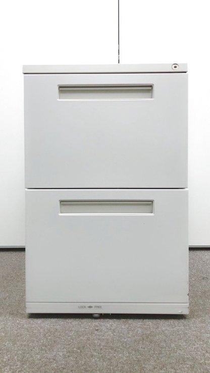 【A4ファイルが入ります】2段ワゴン/イナバ/ホワイト                         その他シリーズ                                     中古