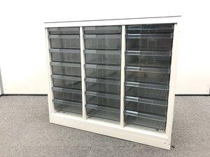 希少商品|ホワイト3列クリスタルトレイ|浅1深6|天板付き|窓下などにお勧めサイズ