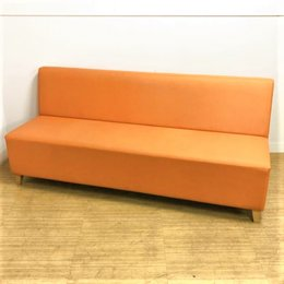 【オレンジ色でオフィスが華やぐ!ビタミンカラーのソファーが入荷!!】フレッシュな見た目で気持ちもフレッシュに 相合家具